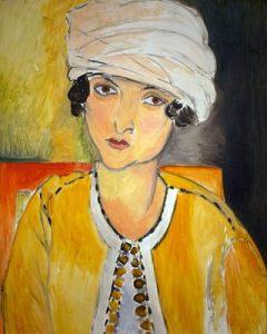 Laurette au turban blanc et veste jaune, par Henri Matisse