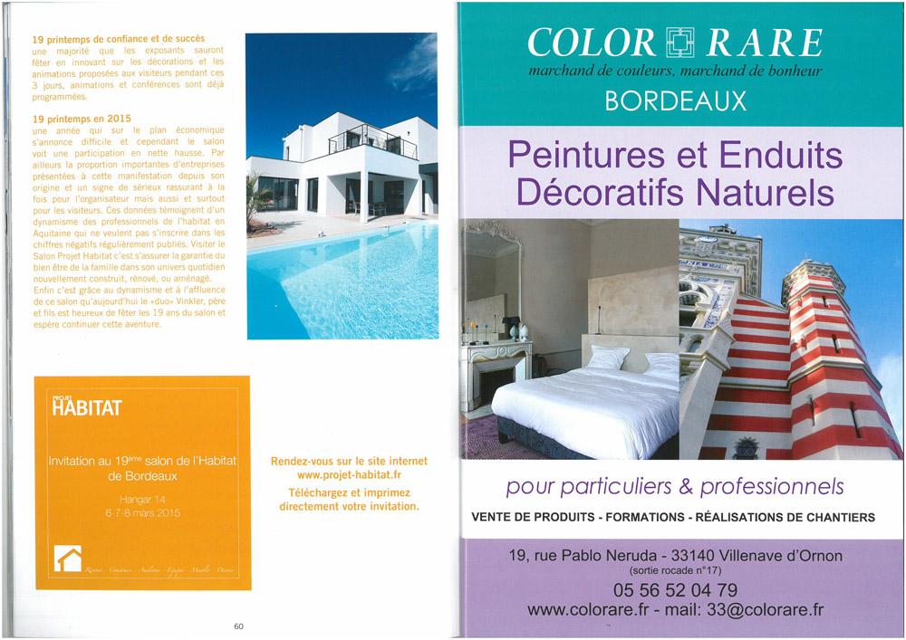 Invitation gratuite au salon projet habitat color rare - Salon habitat bordeaux ...