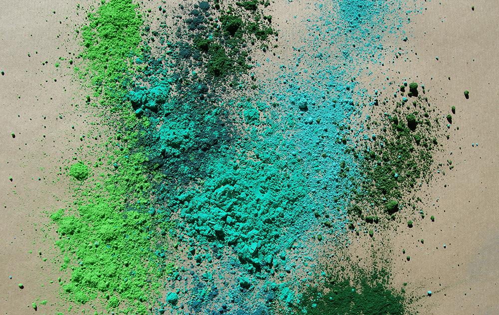 VERTS pigments poudre colorée peintures naturelle tendances 2018 color-rare